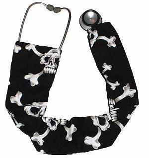 Stethoscope Cover Sock Skulls 3