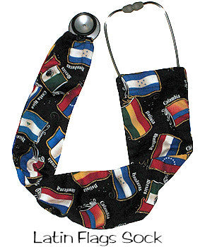Stethoscope Sock Latin Flags