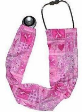 Stethoscope Covers Breast Cancer Ribbons