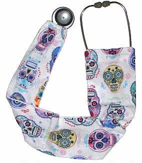 Stethoscope Covers Folklore Skulls