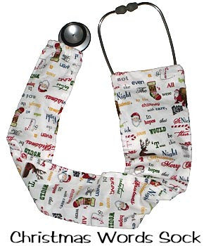 Stethoscopes Covers Christmas Words