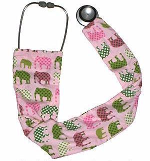 Stethoscope Covers Pink Elephants