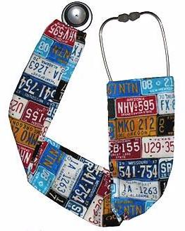 Stethoscope Covers USA License Plates