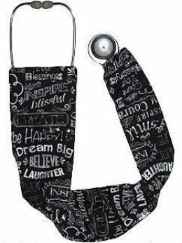 Stethoscope Covers Chalkboard Happy