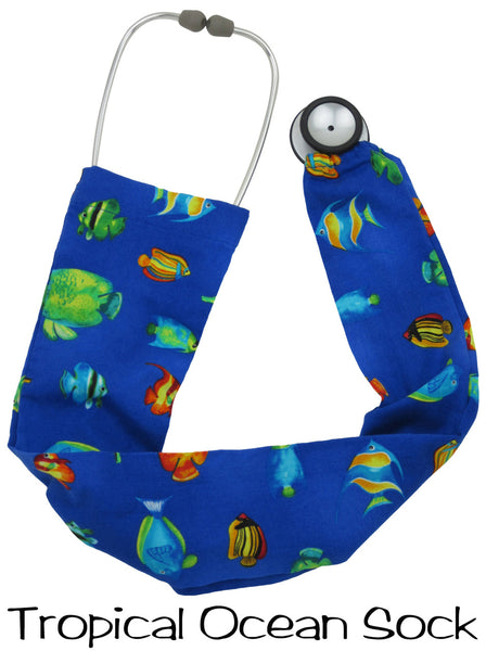 Stethoscope Socks Tropical Ocean