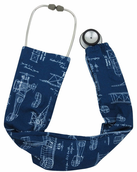Stethoscope Covers Vintage Aeroplanes