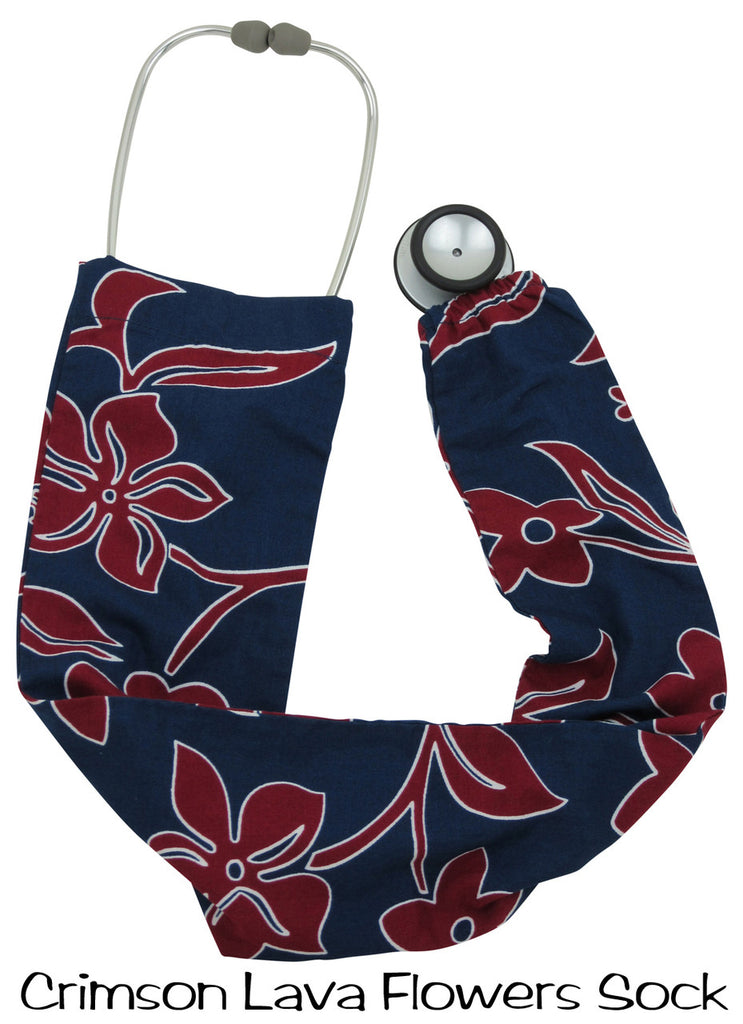 Stethoscope Covers Crimson Lava Flowers