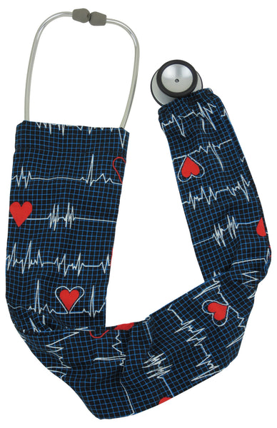 Stethoscope Covers EKG black