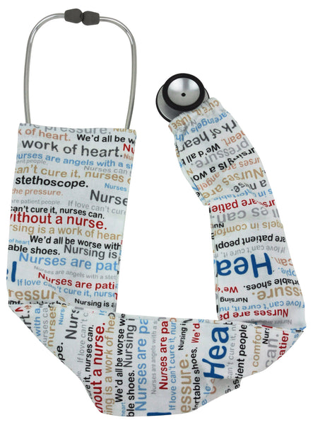 Stethoscope Covers Nurses Words