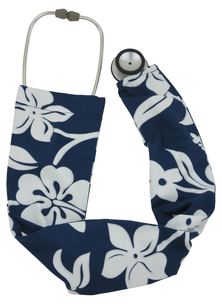 Stethoscope Sock Lava Flower Navy