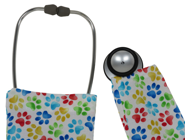 Stethoscope Cover Cats Paws White