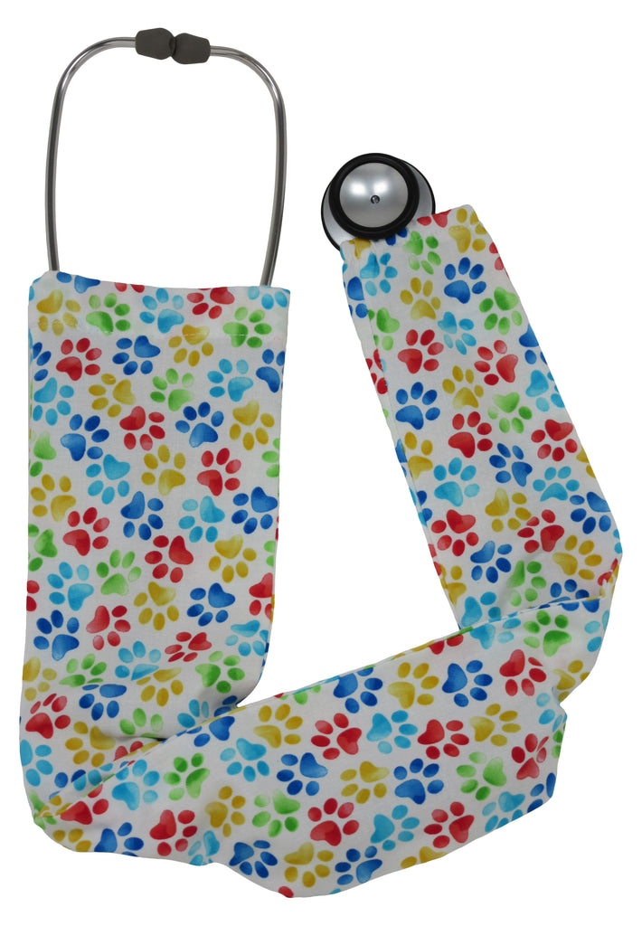 Stethoscope Covers Cats Paws White