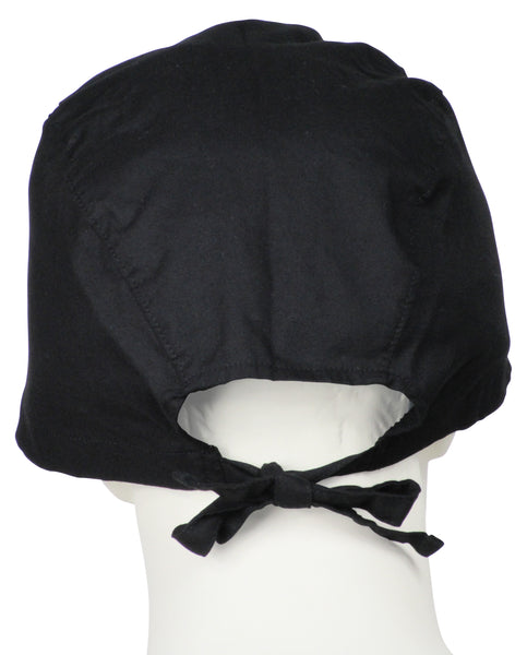 XL Surgical Cap Midnight Black