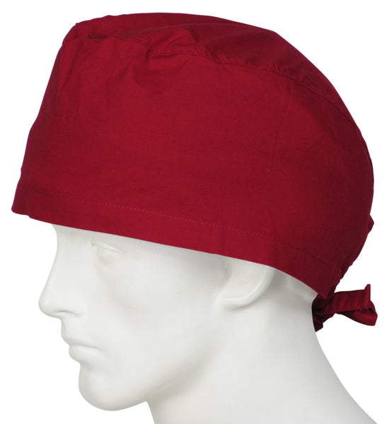 XL Surgical Caps Cherry Red