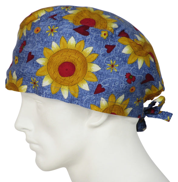 XL Surgical Hats Sunflower Folk