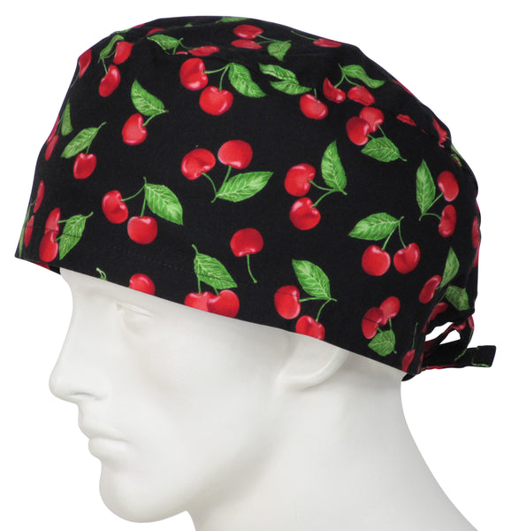 XL Surgical Cap Too Cherries