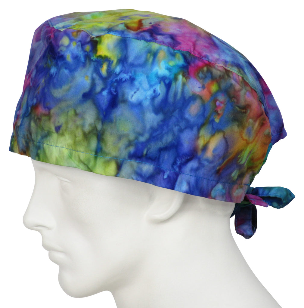 XL Scrub Surgical Hat Tie Dye