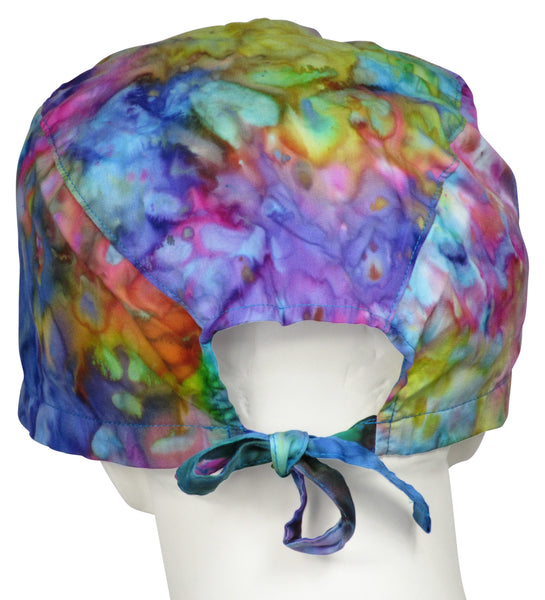 XL Scrub Surgical Caps Tie Dye