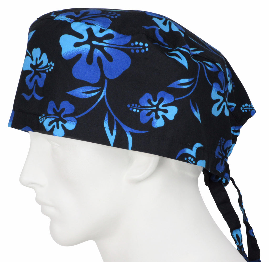 XL Surgical Cap Lava Flower Black