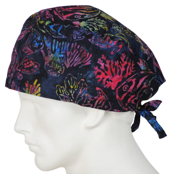 XL Surgical Hats Bermuda Reefs