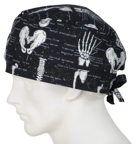 XL Surgical Hats Skeletons