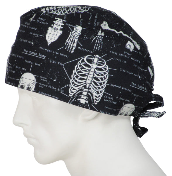 XL Scrub Hats Skeletons