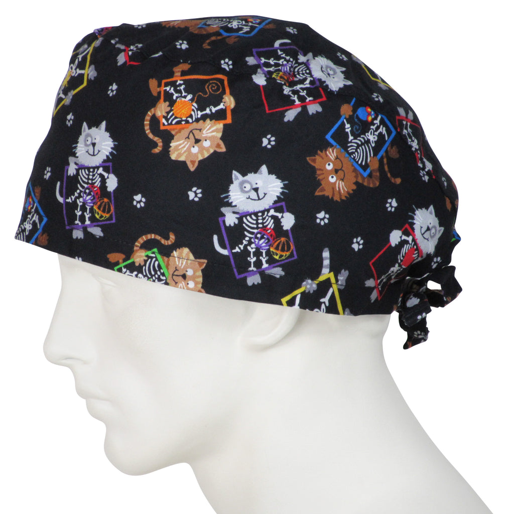 XL Scrub Caps X Ray Cats