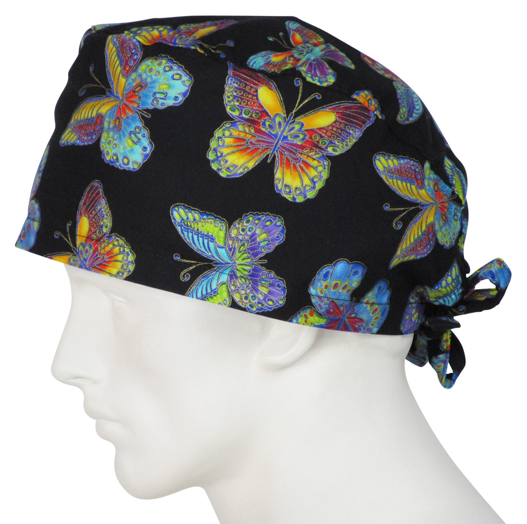 XL Scrub Caps Fall Butterflies