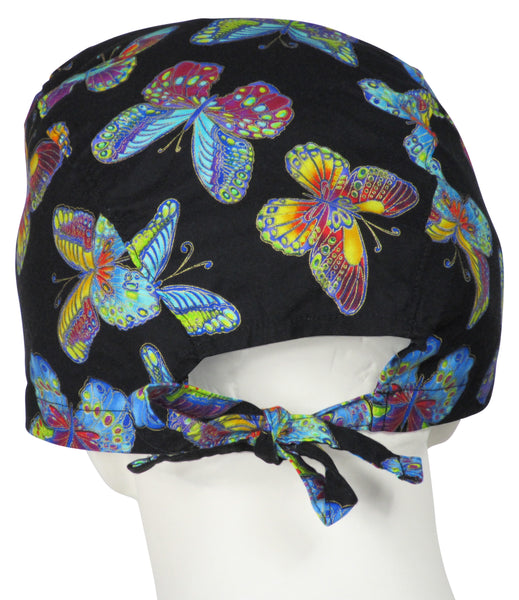 XL Scrub Caps Fall Butterflys