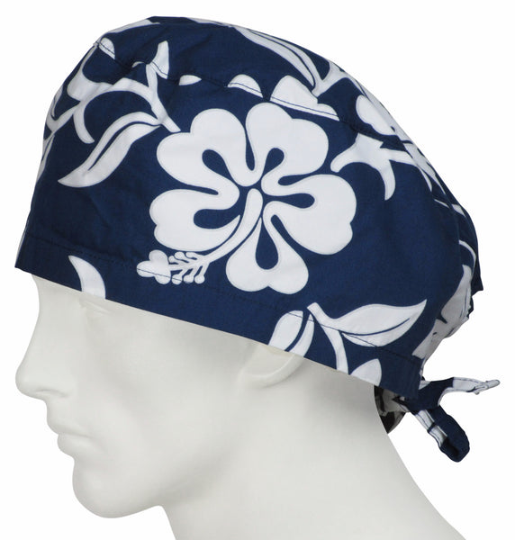 XL Scrub Caps Lava Flower Navy