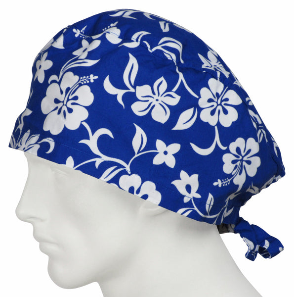 XL Scrubs Cap Lava Flowers Oceanic