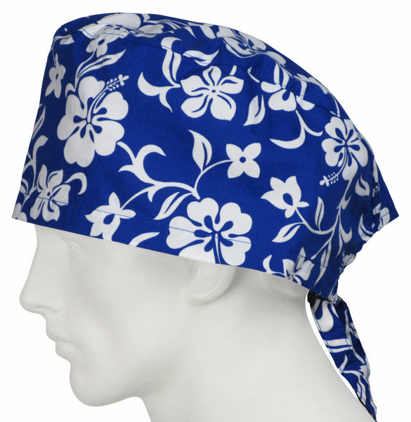 XL Surgical Cap Lava Flowers Oceanic