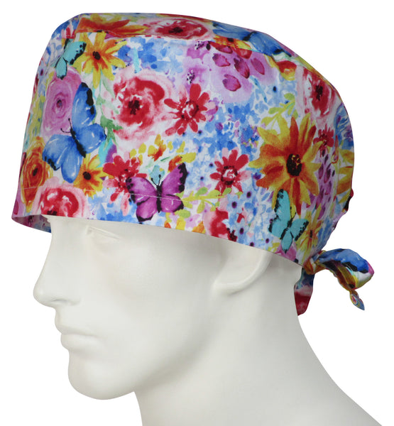 XL Surgical Hats Fall Bloom