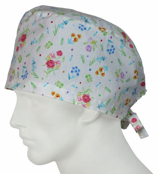 XL Surgical Caps Dainty Flowers