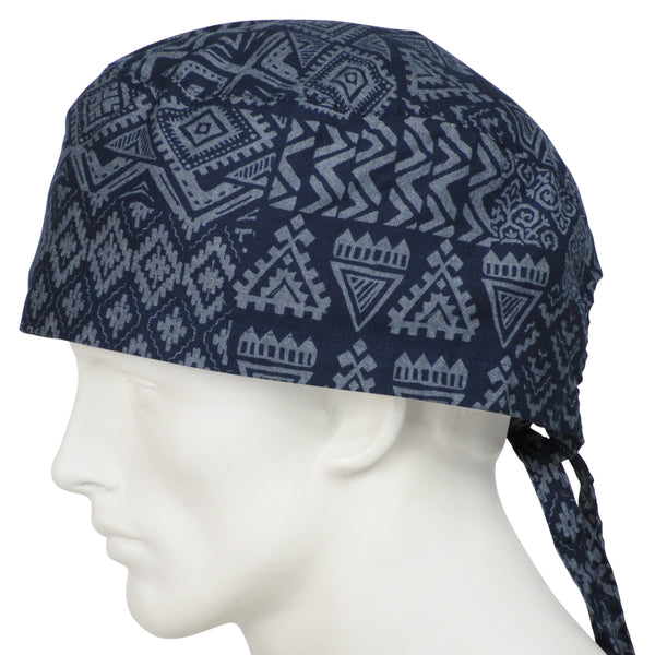XL Scrub Caps Tribal Indigo