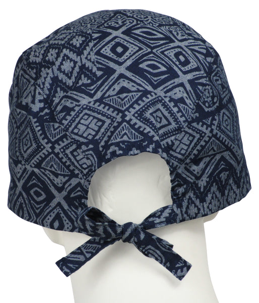 XL Surgical Hats Tribal Indigo