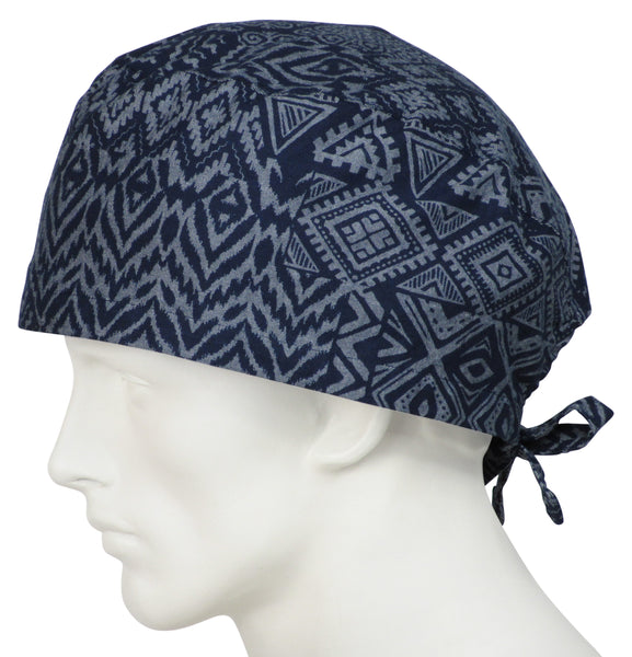 XL Surgical Caps Tribal Indigo