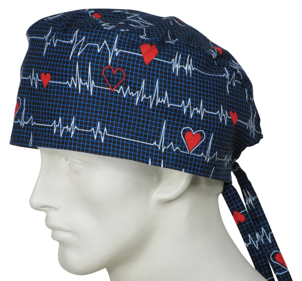 XL Surgical Hats EKG black