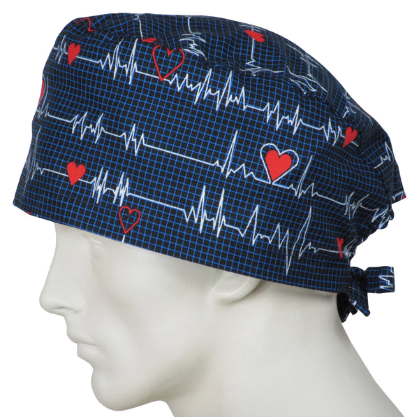 XL Surgical Caps EKG black