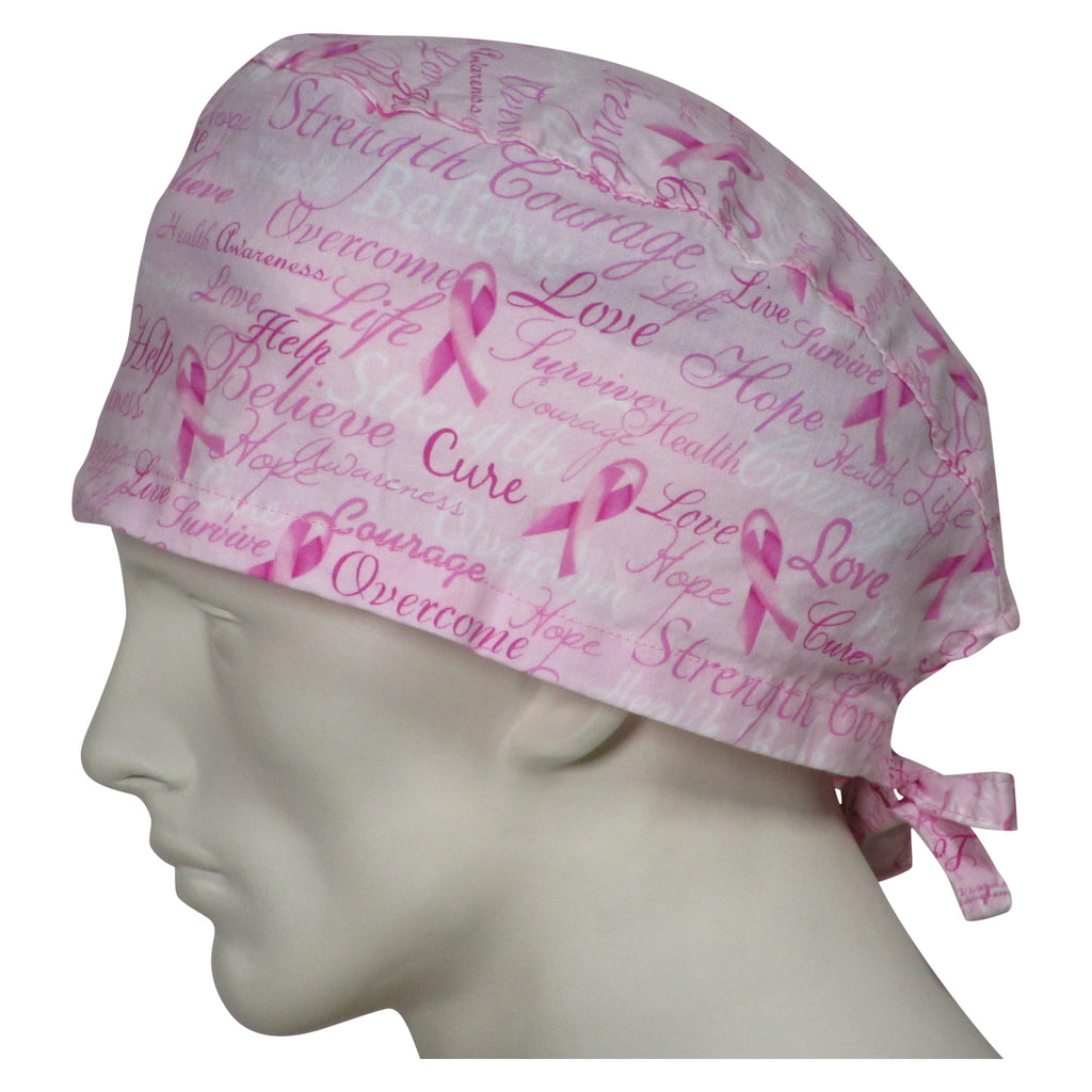 XL Surgical Caps Pink Ribbons