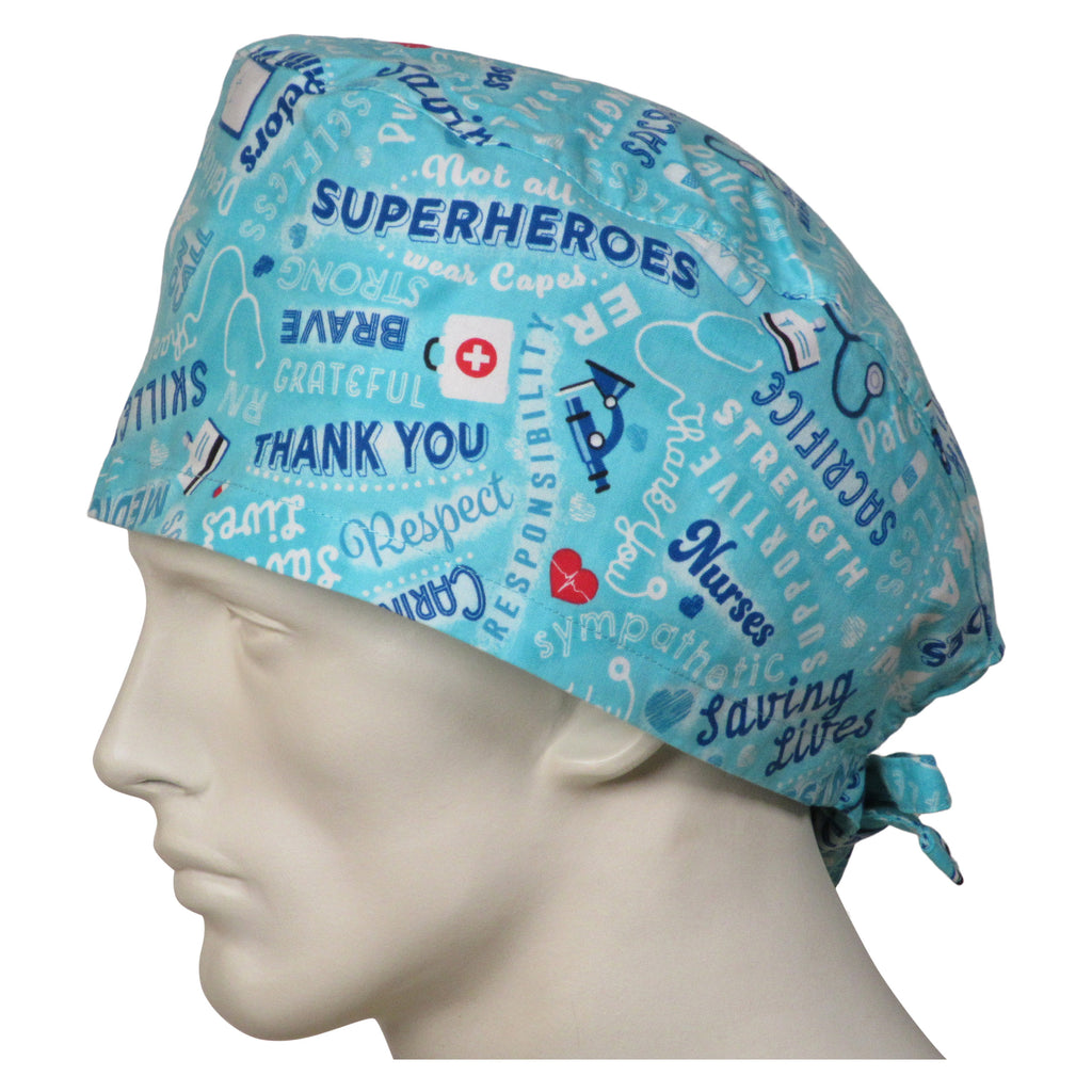 XL Scrub Caps Medical Heroes
