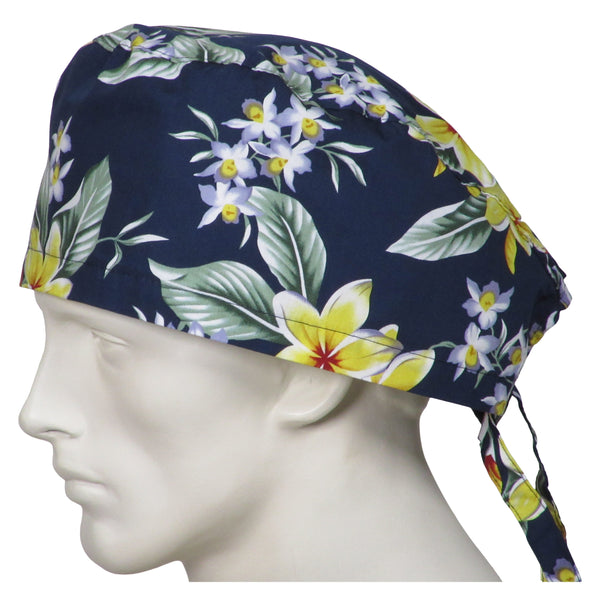 XL Scrubs Caps Island Flowers
