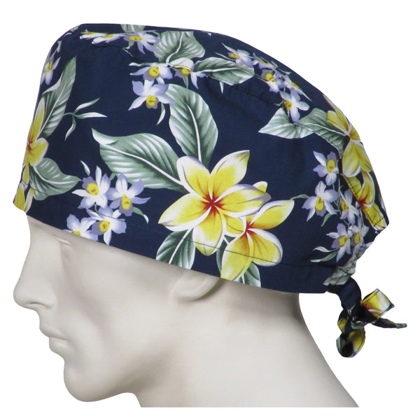 XL Scrub Caps Island Flowers