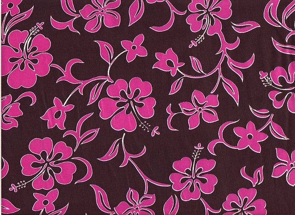 Fabric Close-Up Pink Lava Flowers
