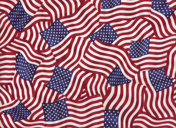 Close-up Fabric American Flags