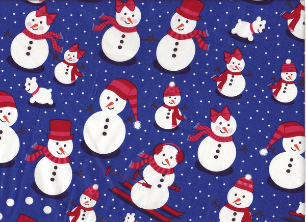 Close-up Fabric Arctic Snow People
