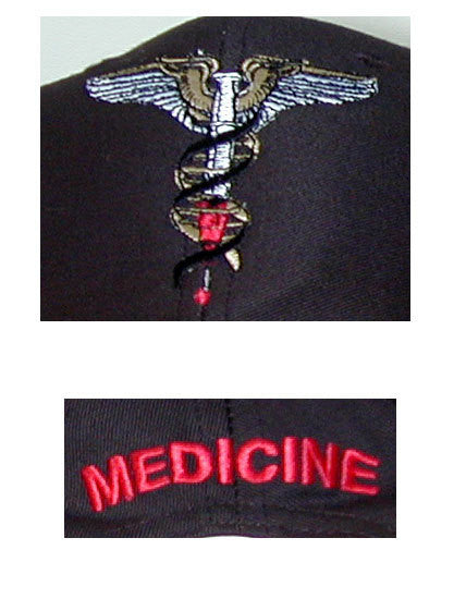 Close-up Caduceus Baseball Cap (Front, Back)