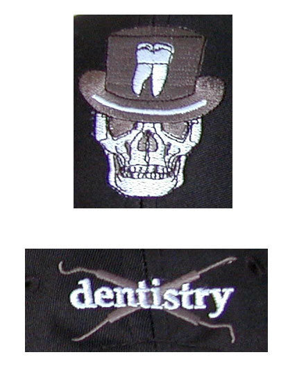 Close-up Dentistry Skull Baseball Cap (Front, Back)