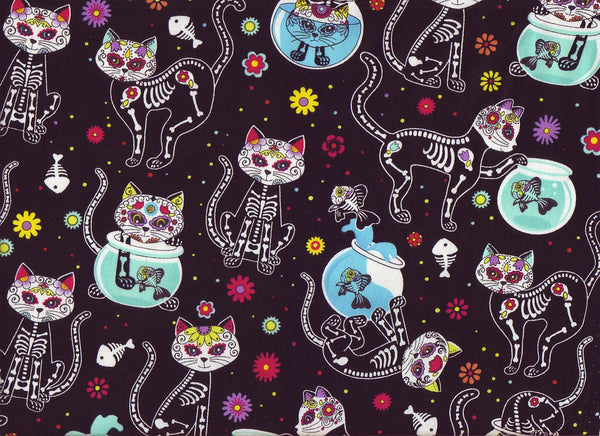 Close-up Fabric Bad Kitty