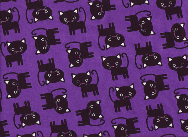 Close-up Fabric Black Cats